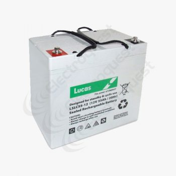 LSLC55-12 Lucas Sealed Lead Acid Battery 12V 55Ah