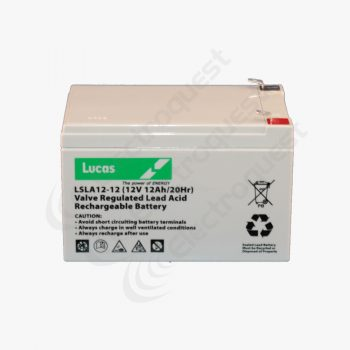 LSLA12-12 Lucas Sealed Lead Acid Battery 12V 12Ah