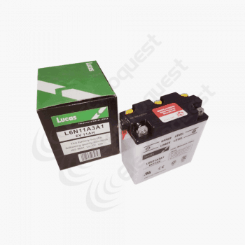6N11A3A1 Lucas Motorcycle Battery 6V 11Ah