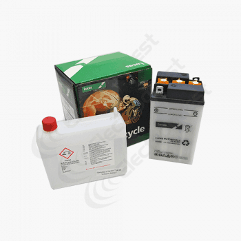 B496 Lucas Motorcycle Battery 6V 10Ah