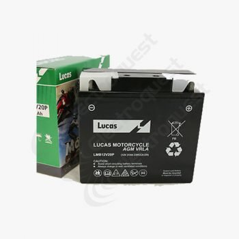 MB12V20P Lucas Motorcycle Battery 12V 19Ah