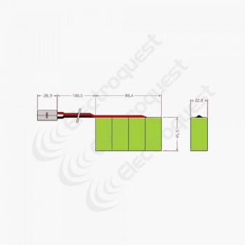 4.8V 3300mAh SC Battery Pack For Radio Control Car 4×1