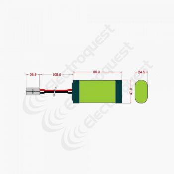 4.8V 3300mAh SC Battery Pack Layout