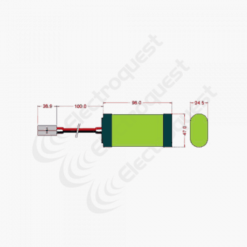 4.8V 4600mAh SC Battery Pack For Radio Control Car 2×2