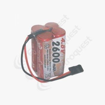 4.8V 2600mAh Square Radio Control Receiver Battery Pack