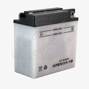 6N11A1B Platinum Motorcycle Battery 6V 11Ah