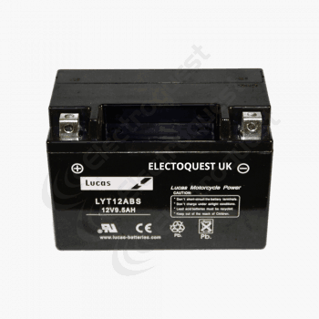 YT12ABS Lucas Motorcycle Battery 12V 10Ah
