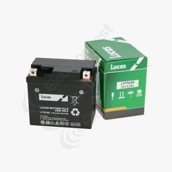 YT5LBS Lucas Motorcycle Battery 12V 4Ah