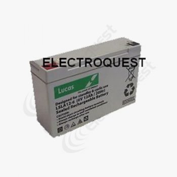 LSLA12-6 Lucas 6V 12Ah AGM Battery