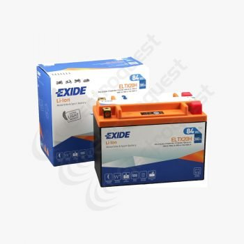 ELTX20H Exide Li-Ion Lithium Motorcycle Battery 12V 7Ah