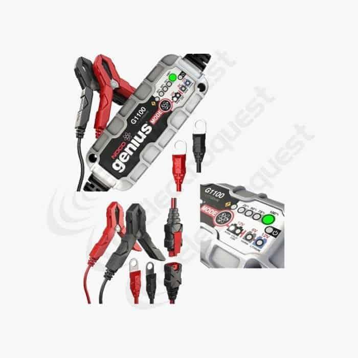 Noco Genius Motorcycle Battery Charger G1100 6V / 12v 1.1A Acid, Gel & Lithium